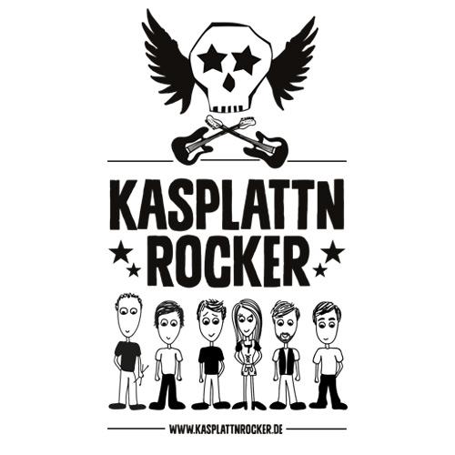 Download Kasplattnrocker Logo schwarz/weiß